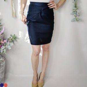 GIRLS FROM SAVOY linen origami pencil skirt 0003